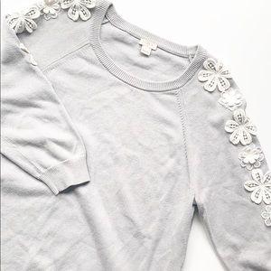 J. Crew | EUC Crochet Florets Sweater